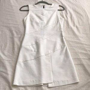 Zara Basic White Shift Dress